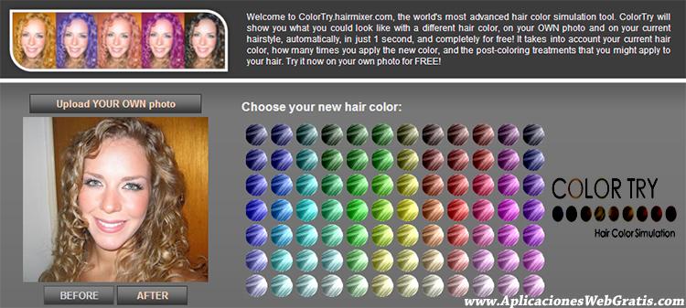 Cambiar el color del pelo online