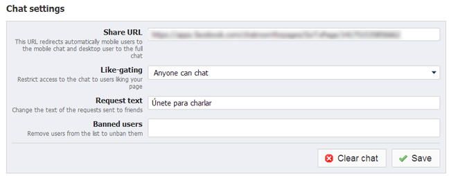 Chat para Fanspage de Facebook