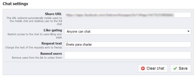 Chat para Fanspage de Facebook