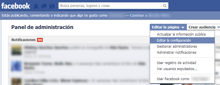 Tutorial Evitar SPAM en las Fanpages de Facebook 1