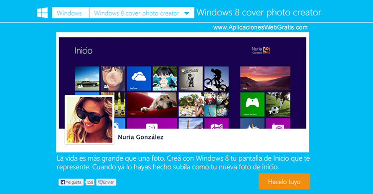 Windows 8 Cover Photo Creator