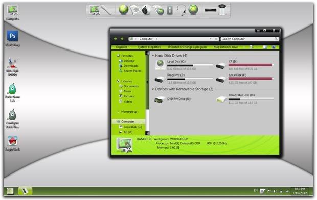 Tema Xbox 360 para Windows 7