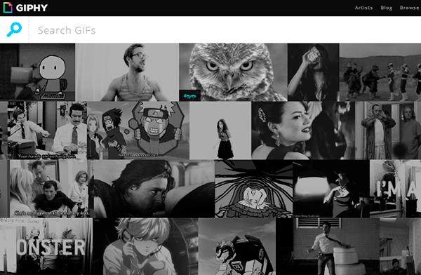 Giphy, buscador de GIF animados