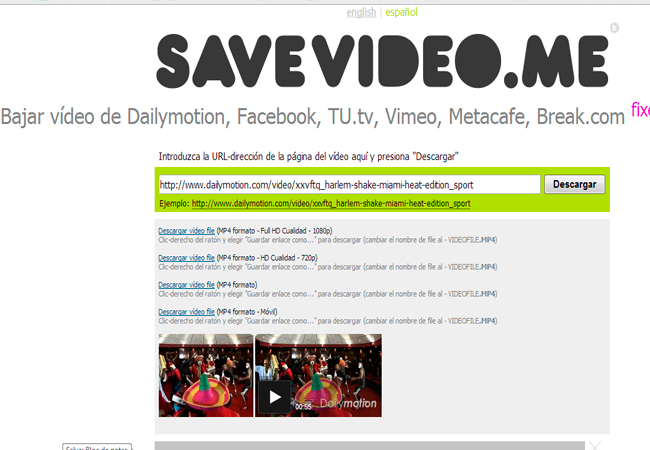 Descargar videos online