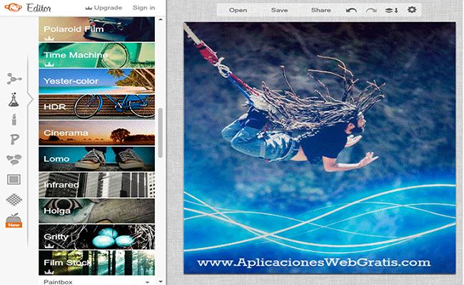 Editor de imagenes online PicMonkey