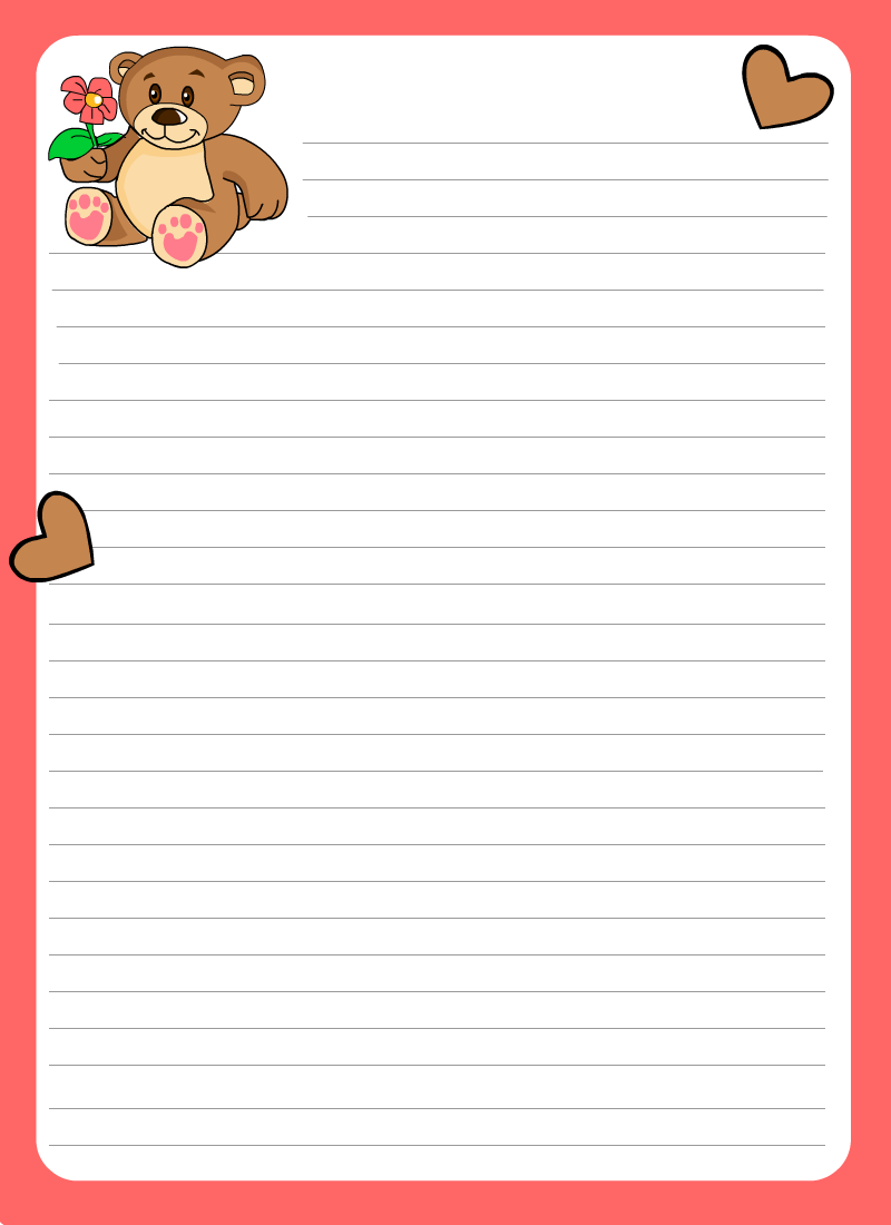 Letter Stationery Template