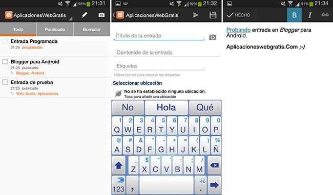 Blogger para Android