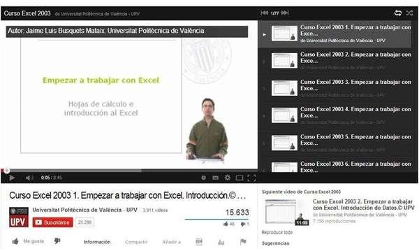 Curso de Excel gratis en videos
