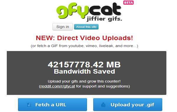 Gfycat - crear videos html5 a partir de gifs