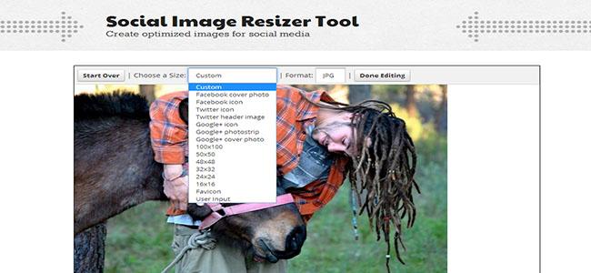 Social Image Resizer Tool