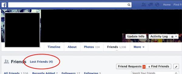 saber quien te elimina de Facebook
