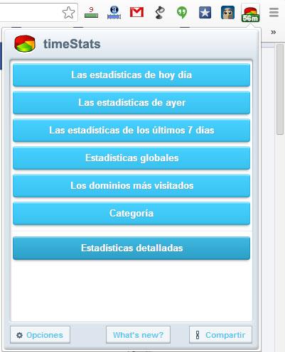 timeStats Menu