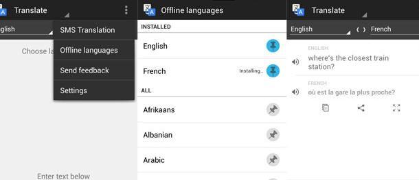 Traducir frases para Android