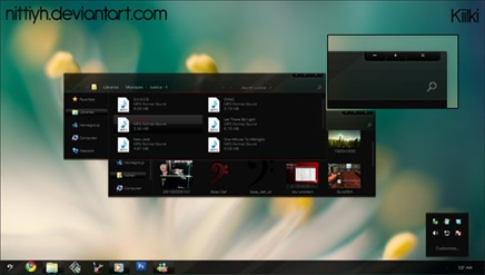 Dark Windows 7 Desktop Theme