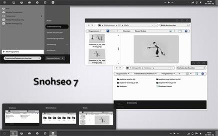 Elegant White Desktop Theme Snoseo