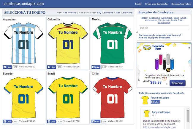 f15a57a01844b Ondapix - Crear una camiseta de Fútbol con tu nombre