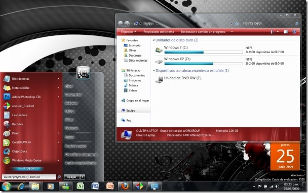 Alternative theme windows 7