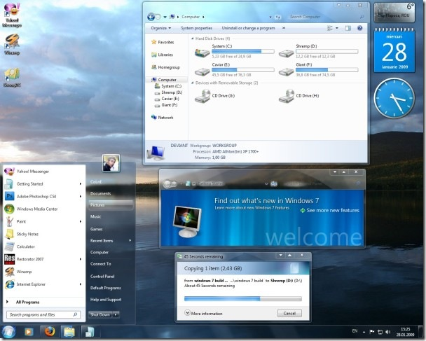 Seven theme Windows 7