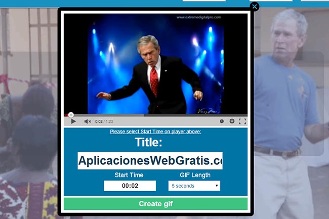 Convertir video de youtub en GIF