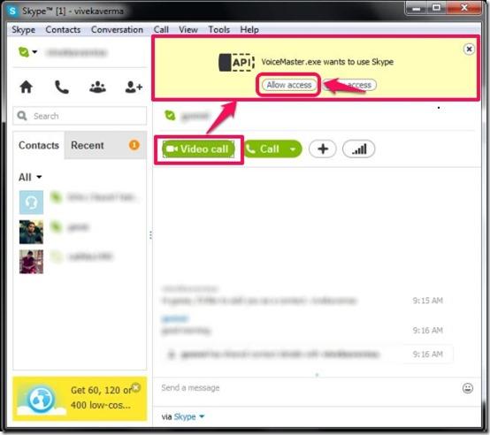 Agregar efectos a tu voz en Skype