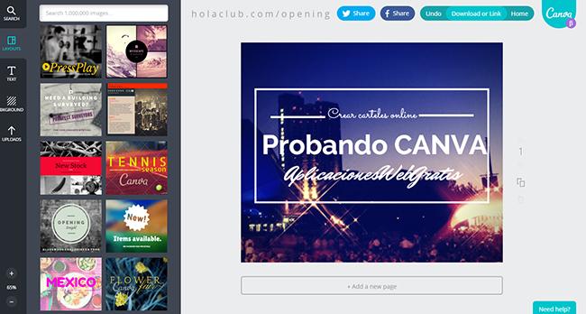 Crear carteles online
