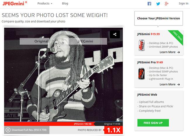 Optimizar imagenes sin perder calidad