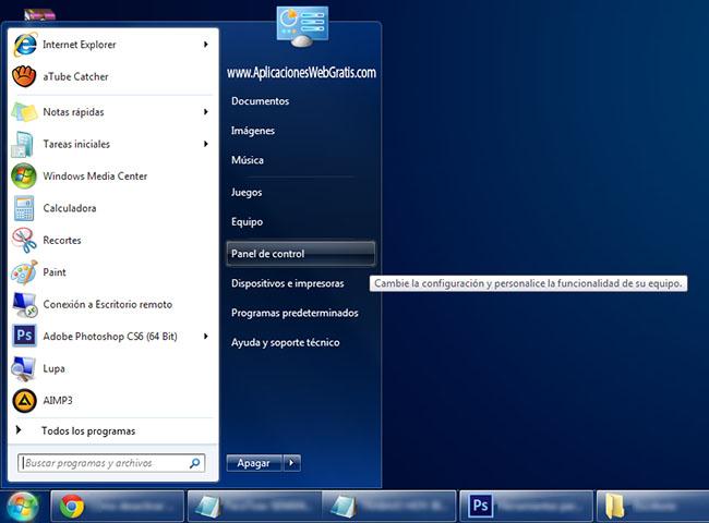 Paso 1 para Desactivar UAC en Windows 7