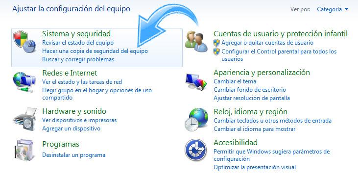 Paso 2  para Desactivar UAC en Windows 7