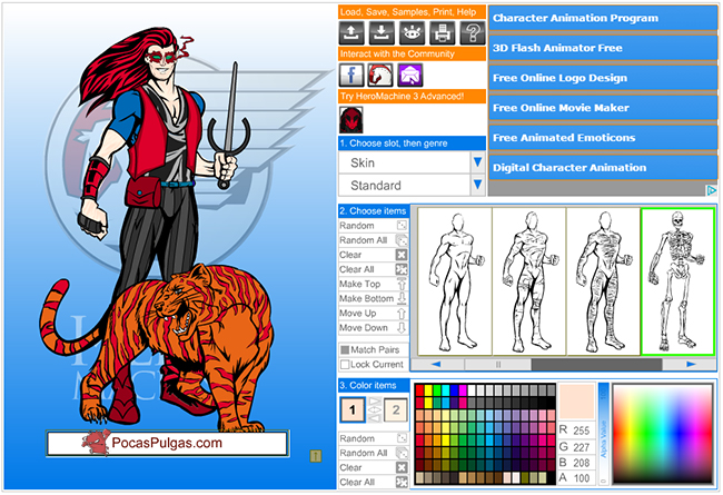 Crear un superheroe online