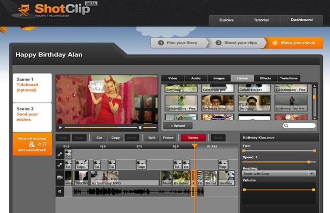 ShotClip - Crear y Editar videos online fácilmente