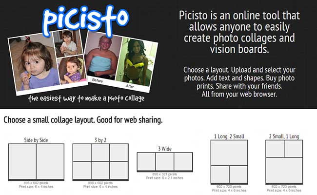 Picisto - Crear collages online