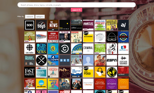 Buscador de podcasts online