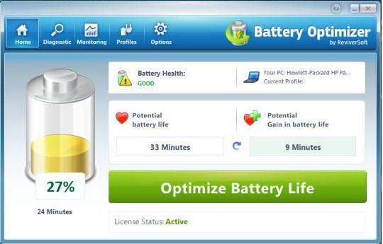 Optimizar la batería de la notebook
