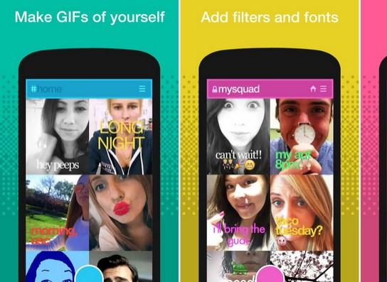 Convertir selfies en gifs