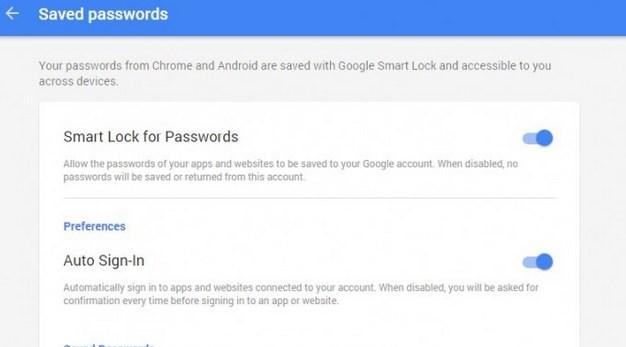 Guardar todas las contraseñas en Android