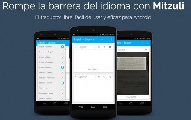 Mitzuli, traductor automático para Android
