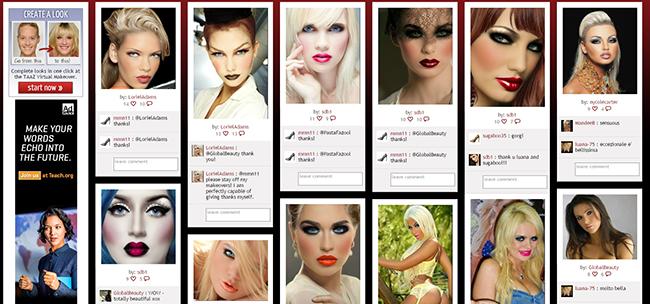 Cambiar de Look online: Retoca el maquillaje, cabello y ojos
