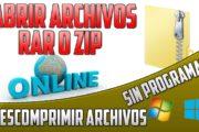Descomprimir archivos online